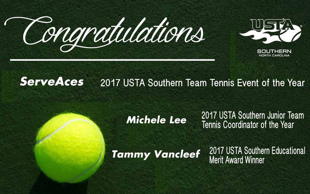 LNTA receives numerous USTA Southern Regional Awards!