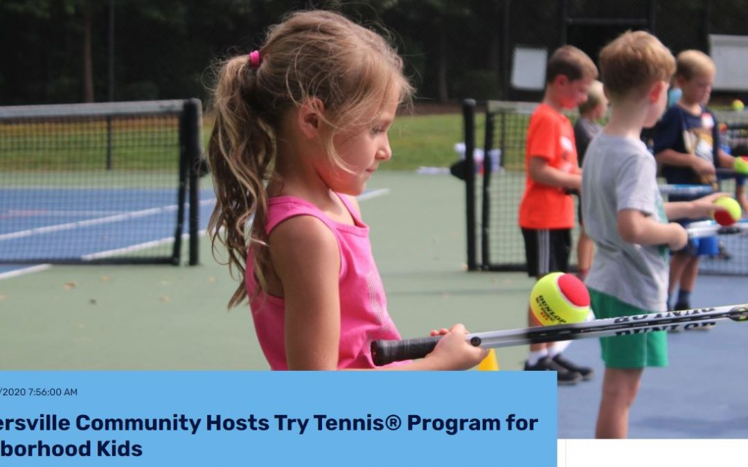 NC Tennis Article Features a Huntersville Neighborhood